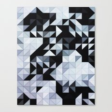 Abstract Black and White Geometry Canvas Print