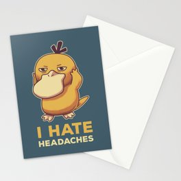 I Hate Headaches // Psyduck Migraines Stationery Cards