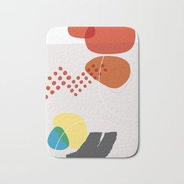 Shape & Hue Series No. 3 – Yellow, Orange & Blue Modern Abstract Bath Mat