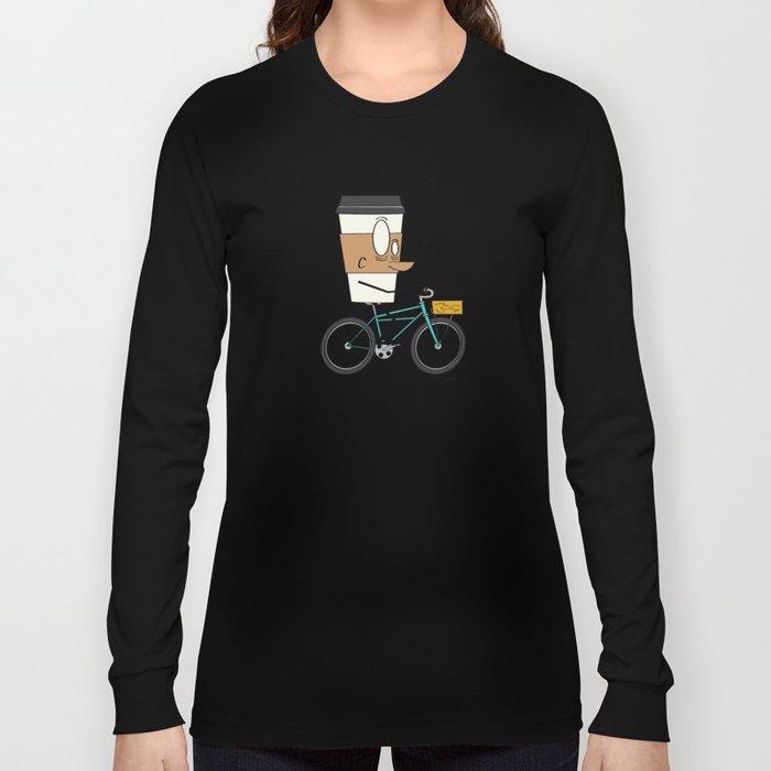 Coffee Cup Biking Long Sleeve T-shirt