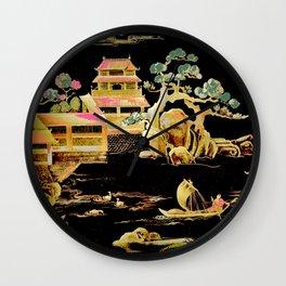 oriental pagodas Wall Clock