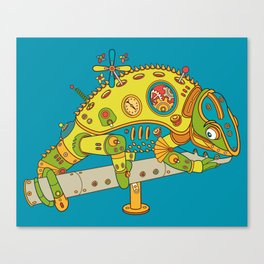 Chameleon, cool wall art for kids and adults alike Canvas Print