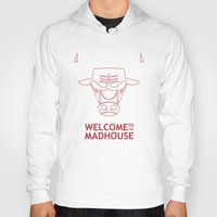 chicago bulls Hoodies featuring Madhouse Chicago Bulls by beejammerican
