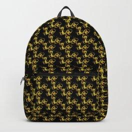 Gold Copper Dragon Kung Fu San Soo on Black Backpack