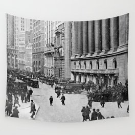 Vintage Wall Street NYC Photograph (1921) Wall Tapestry