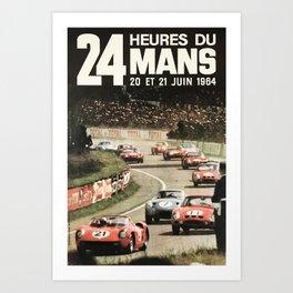 Le Mans 1964, Le Mans poster, Le Mans t shirt, Race poster, Art Print