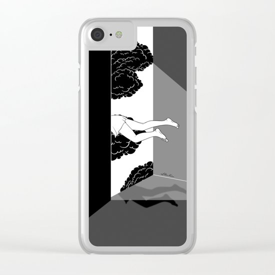 The edge of the world Clear iPhone Case