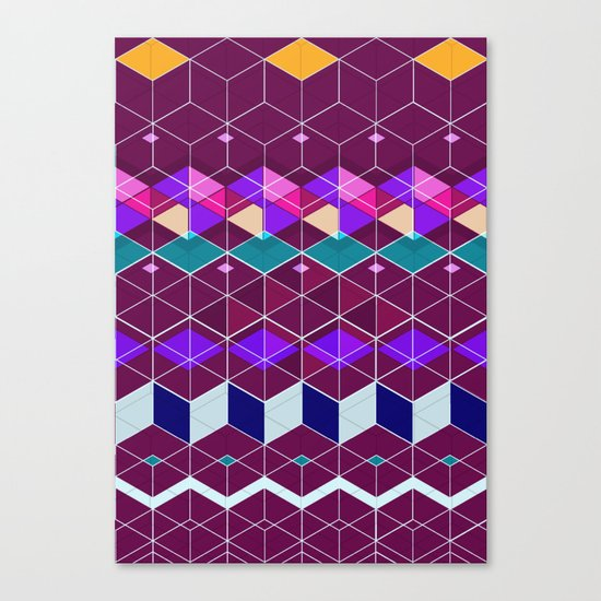 Cube Geometric IX Canvas Print