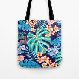 Deep Blue Tropicana Tote Bag
