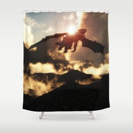 Volcanoes - Home of the Dragons Shower Curtain
