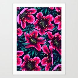 Manuka Floral Print Art Print