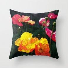 Poppies Four Throw Pillow