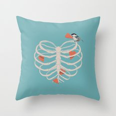 The Heart Collector Throw Pillow
