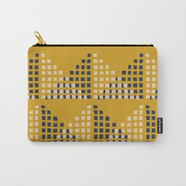 Layered Geometric Block Print in Mustard Carry-All Pouch