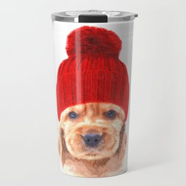 Cocker spaniel puppy with hat Travel Mug