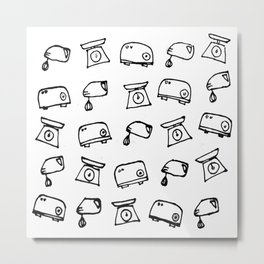 Kitchen Electric Marker Drawing Metal Print