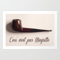 magritte Art Prints featuring Magritte by Maressa Andrioli