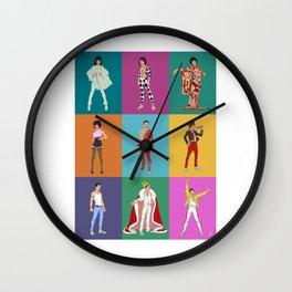 Bohemian Grid (rectangle) Wall Clock