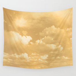 Clouds in a Golden Sky Wall Tapestry