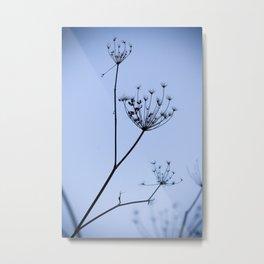 Silhouette on blue Metal Print