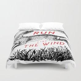 Run Like The Wind Duvet Cover