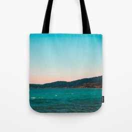 Mountains and Sea at Greece Tote Bag