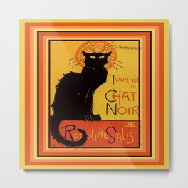 Tournee Du Chat Noir - After Steinlein Metal Print