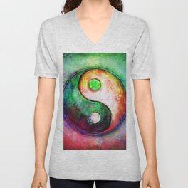 Yin Yang - Colorful Painting II Unisex V-Neck