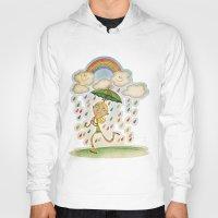 rain Hoodies featuring Rain by José Luis Guerrero