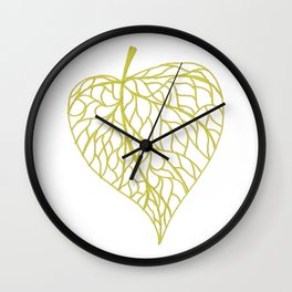 The Linden leaf Wall Clock