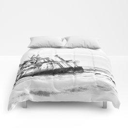 shipwreck aqrebw Comforters