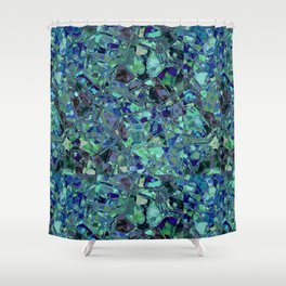 Blue And Green Stained Glas Shower Curtain