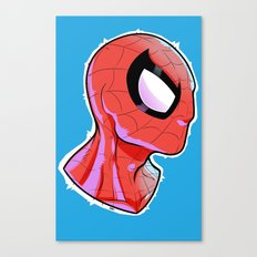 The Amazing Spider-Bust Canvas Print