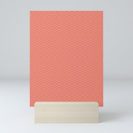 Pantone Living Coral Scallop, Wave Pattern Mini Art Print