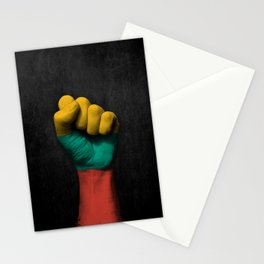 Lithuanian Flag on a Raised Clenched Fist Stationery Cards