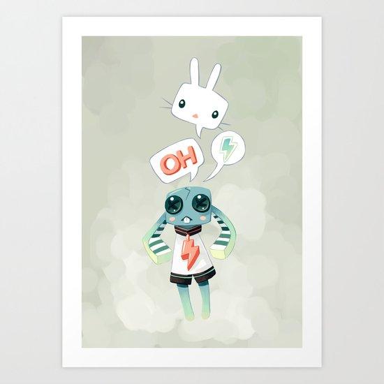 Bunny Doll Art Print