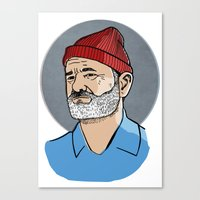 zissou Canvas Prints featuring Zissou by Max the Kid