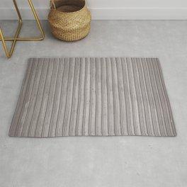 Gray Corrugated Metal Wall Rug