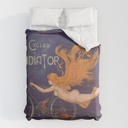 Cycles Gladiator Bicycles Vintage Art Comforters