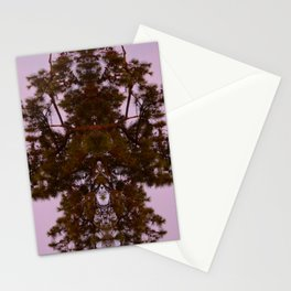 Mirrored Trees 9 Stationery Cards