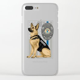 K9 Unit Flag NEW JERSEY copy Clear iPhone Case