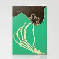 dia de los muertos Stationery Cards featuring Dia de los Muertos by Francesco Tortorella