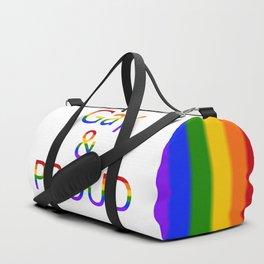 Gay and Proud (white bg) Duffle Bag