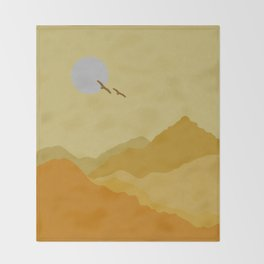 Shades of Desert Throw Blanket