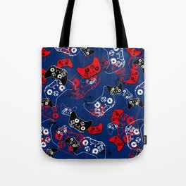 Video Game Red White & Blue 1 Tote Bag