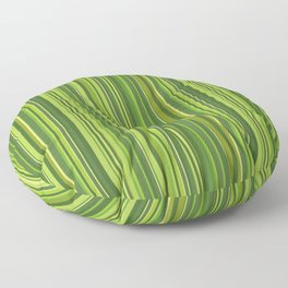 Many multicolored strips in the green sample Floor Pillow