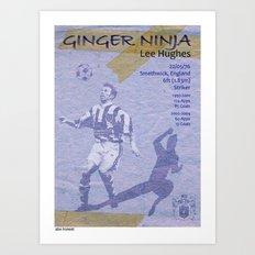 Ginger Ninja - Lee Hughes Art Print