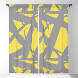Abstract Mosaic Web Pattern 3 Pantone 2021 Color Of The Year Illuminating and Ultimate Gray Blackout Curtain