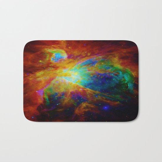 Orion NEBula  : Colorful Galaxy Bath Mat
