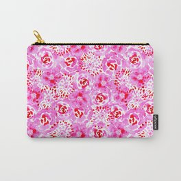 Watercolor Bouquet in Rose Red Pink Carry-All Pouch